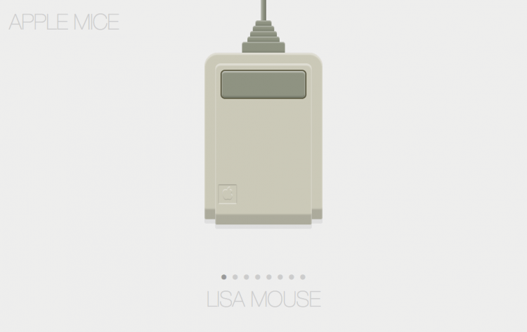 Every mouse Apple ever made pictured exclusively with CSS