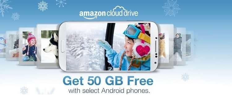 Amazon offers free Cloud Drive storage to Android smartphone buyers
