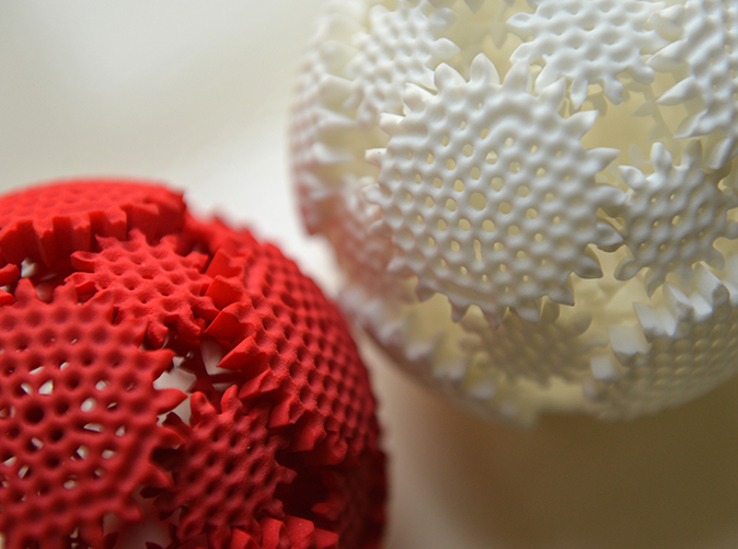 This spherical gear was made using a 3D printer, can be yours for the holidays