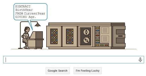 Google honors programming pioneer Grace Hopper with Doodle