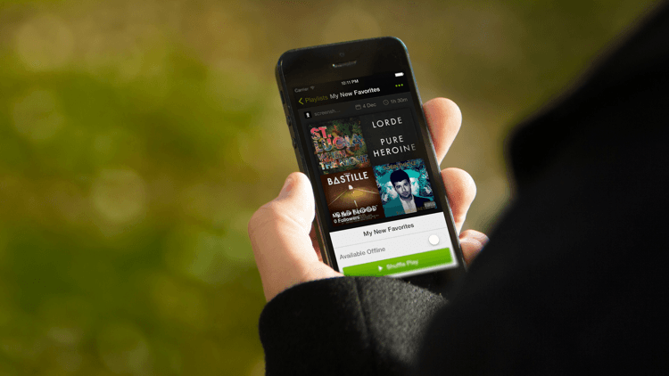 Spotify now streaming free on-demand music on tablets