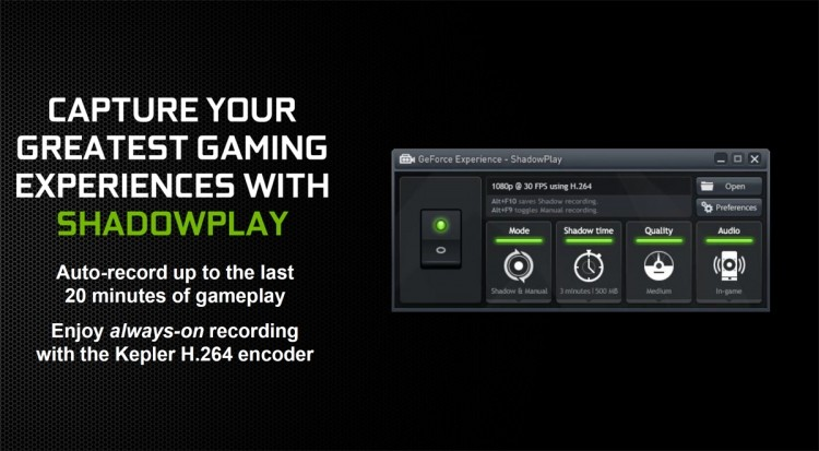 nvidia shadowplay twitch streaming