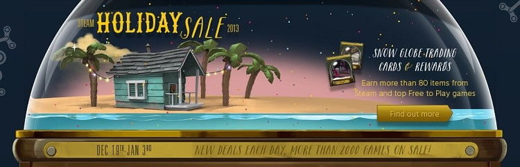 Another Steam Sale begins, this one's for the holiday season