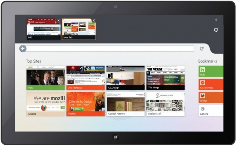 Modern UI Firefox app for Windows 8 delayed until March