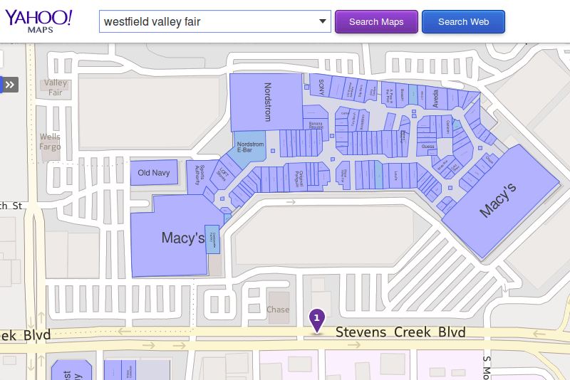 Yahoo Maps teams up with Nokia Here to provide indoor venue maps