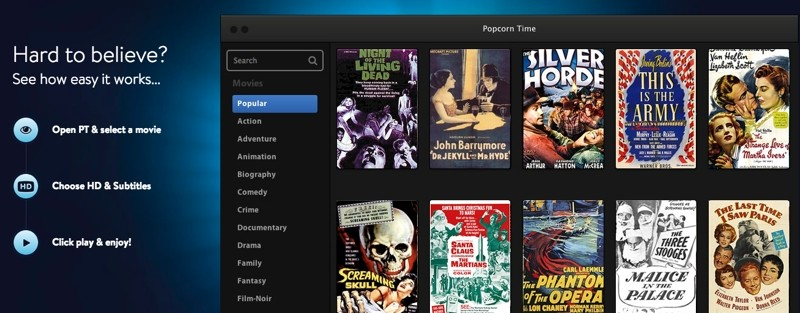 popcorn time the napster for movies shut down then