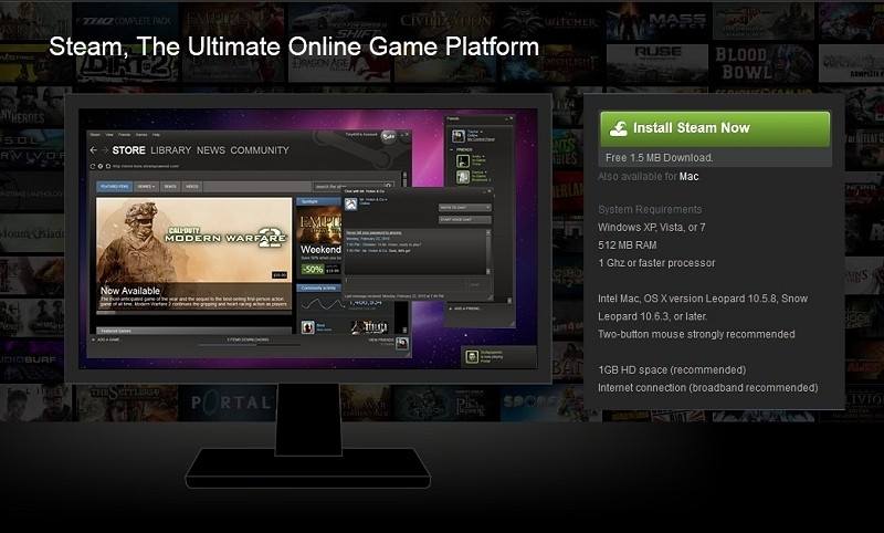 More than half of all Steam games rarely (if ever) get played
