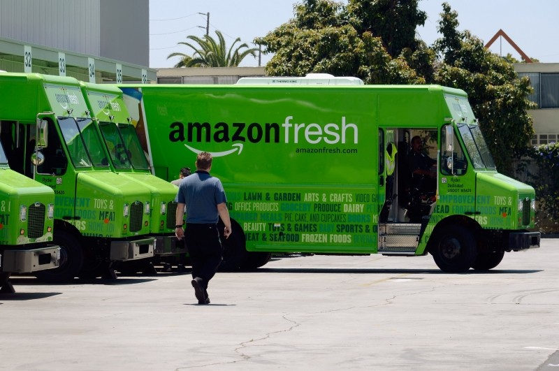 Amazon testing its own delivery truck fleet for last mile drop-offs