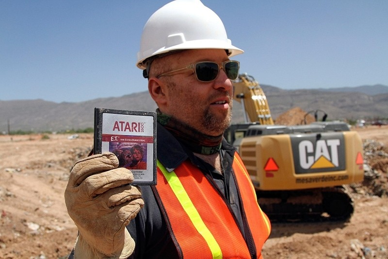 Atari's E.T. games unearthed from New Mexico landfill after more than 30 years