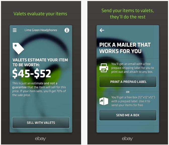 eBay's new 'Valet' app will sell your items for a 30% cut
