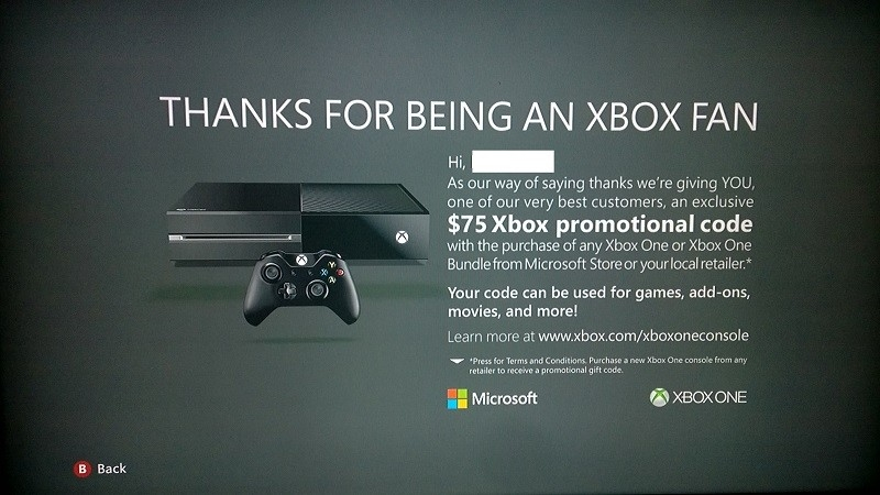 Microsoft offers $75 credit to select 360 users for upgrading to Xbox One