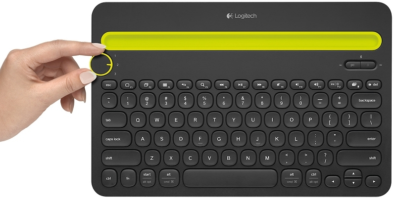 Logitech's K480 Bluetooth keyboard can be paired with up to