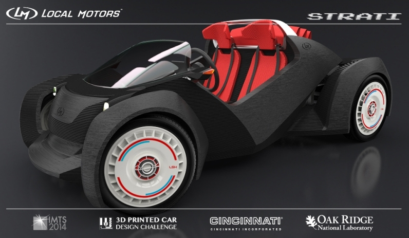 Local Motors unveils Strati, the world's first 3D-printed car