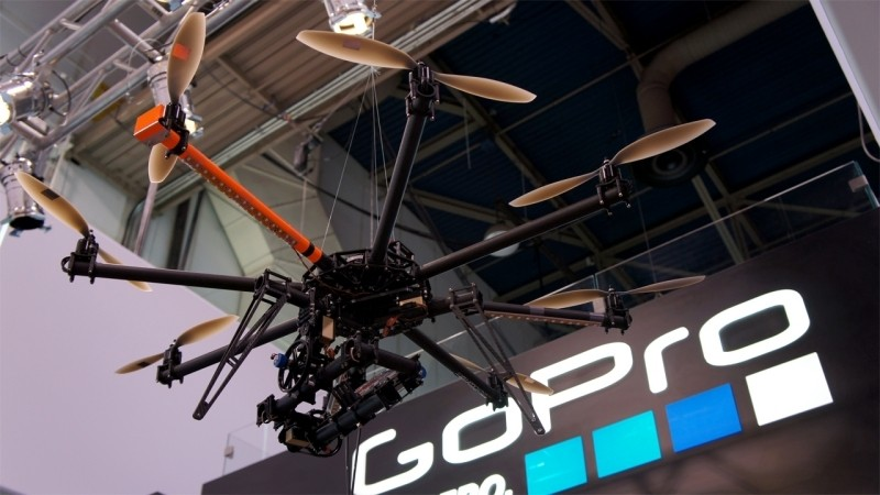 GoPro working on quadrocopter and spherical VR camera