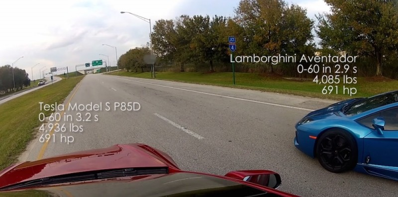 Tesla's Model S P85D hits the road for some drag racing, shames the competition
