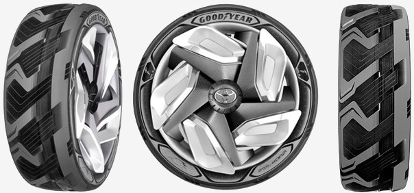 goodyear battery concept electric car tire recharge geneva auto show