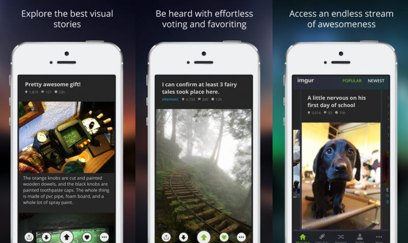 Here's a look at Imgur's brand new iOS app