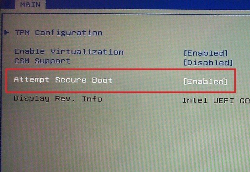 Microsoft is leaving the option to disable Secure Boot up to