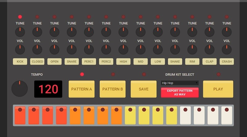 Waste time with the HTML5 Drum Machine