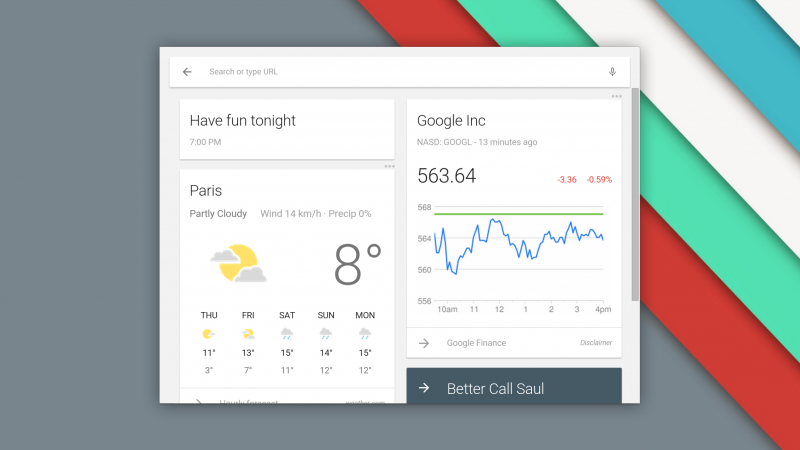 Chrome OS beta gets new Google Now equipped launcher and Material Design