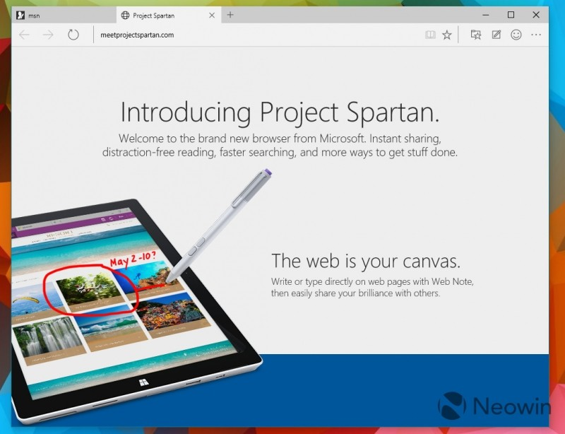 Microsoft unleashes Spartan with latest Windows 10 preview build
