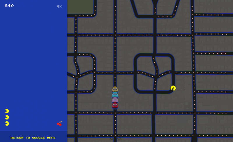 You can now turn any location on Google Maps into a game of Pac-Man