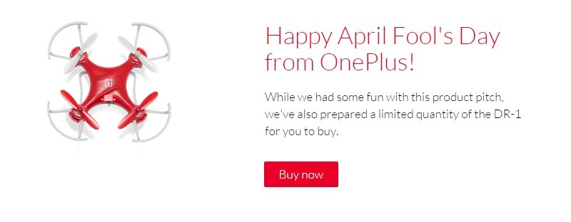 OnePlus celebrates April Fools' Day with drone you can actually buy