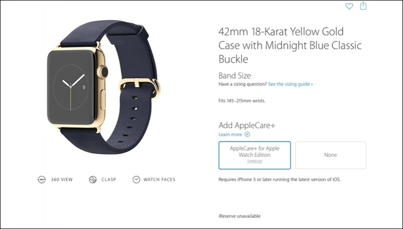 AppleCare+ for Apple Watch starts at $59 for Sport, scales up to $999 for Edition