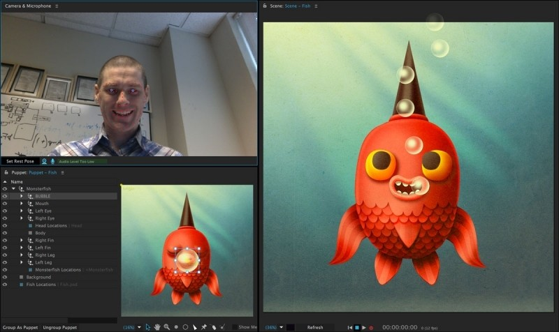 Adobe Character Animator uses your webcam to easily animate your illustrations