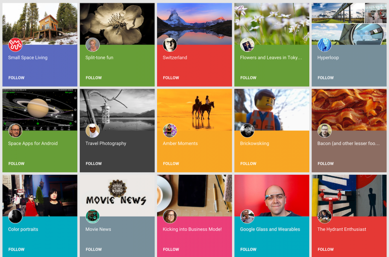 Google+ gets Pinterest-like photo/video Collections feature