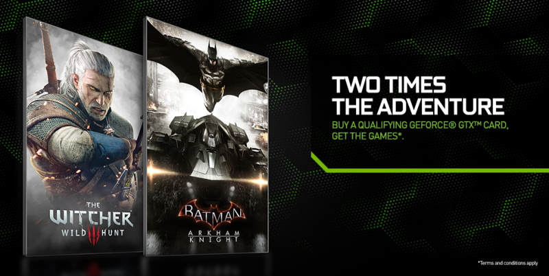 Nvidia bundles The Witcher 3 and Batman: Arkham Knight with new GPUs