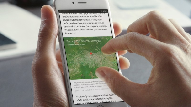 Facebook puts Instant Articles on your News Feed with interactive images, videos and maps