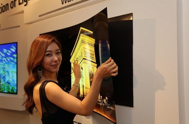 LG Display's 55-inch 'wallpaper' OLED panel is impossibly thin at less than 1mm thick