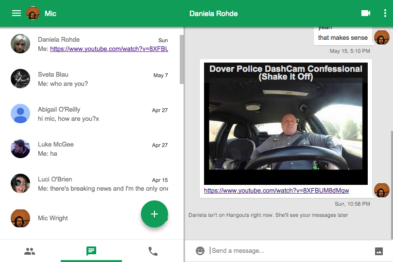 Google refreshes the Hangouts Chrome app for OS X, Windows