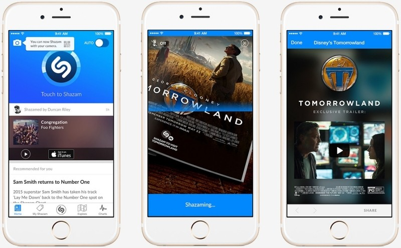 Shazam can now identify static visuals like movie posters, books and magazines