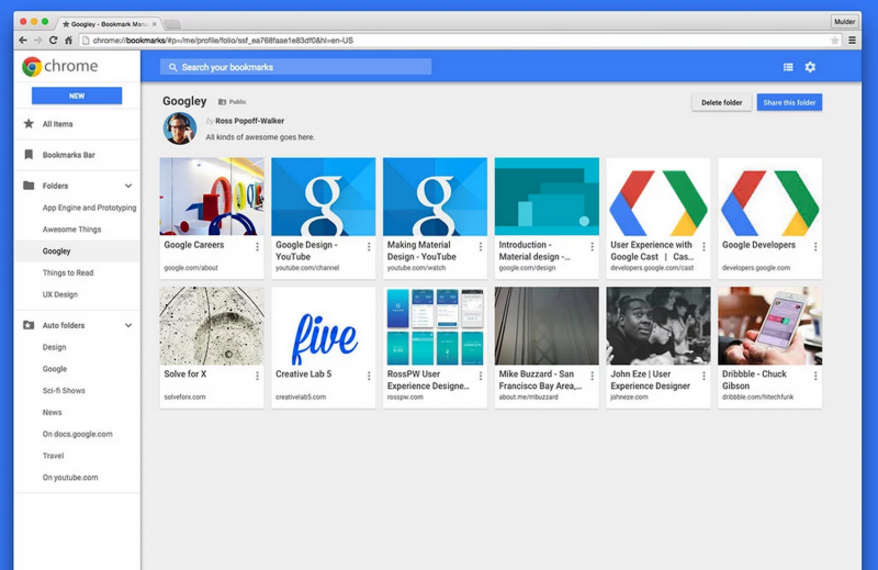 Google reverts back to previous version of Chrome's bookmark