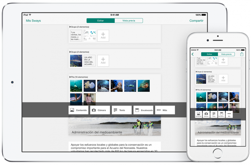 Microsoft's Sway app for iPad is now available, Windows 10 version