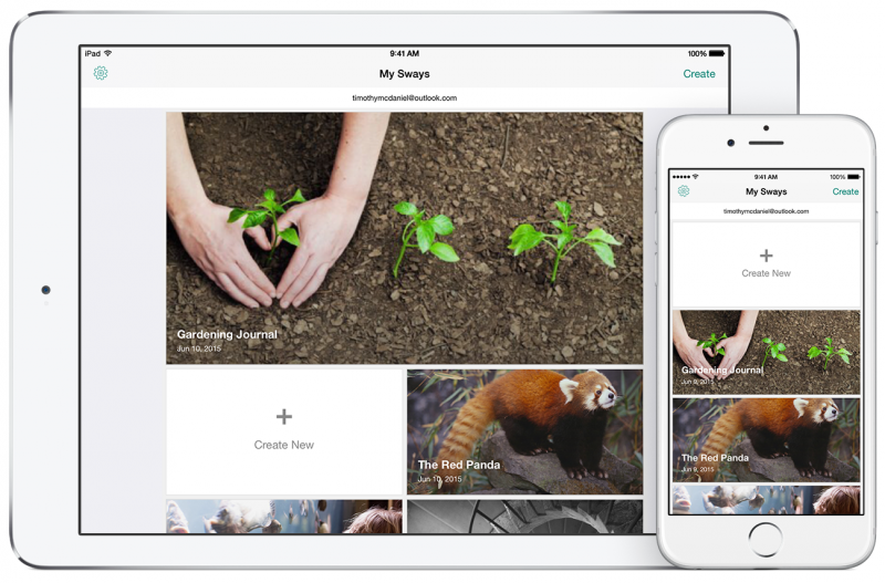 Microsoft's Sway app for iPad is now available, Windows 10 version on its way