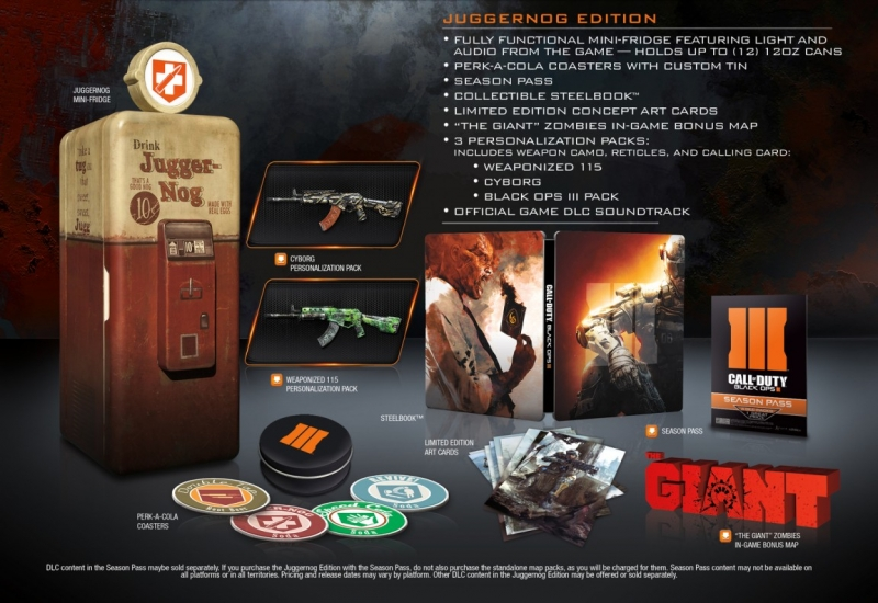 Call of Duty: Black Ops III 'Juggernog Edition' comes with a refrigerator