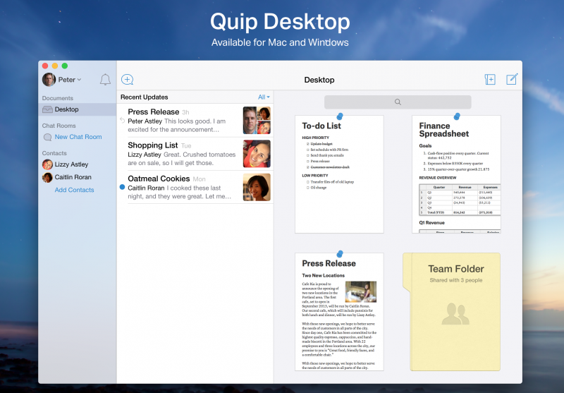 Quip's new collaborative desktop app challenges Microsoft