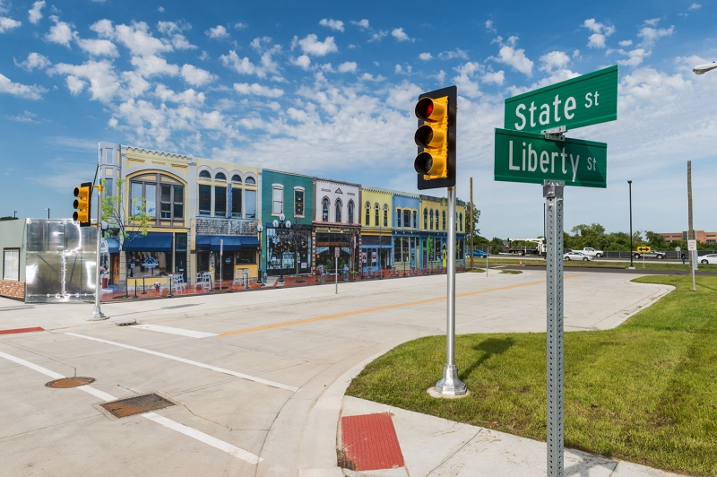 A fake town called Mcity has been made for driverless cars