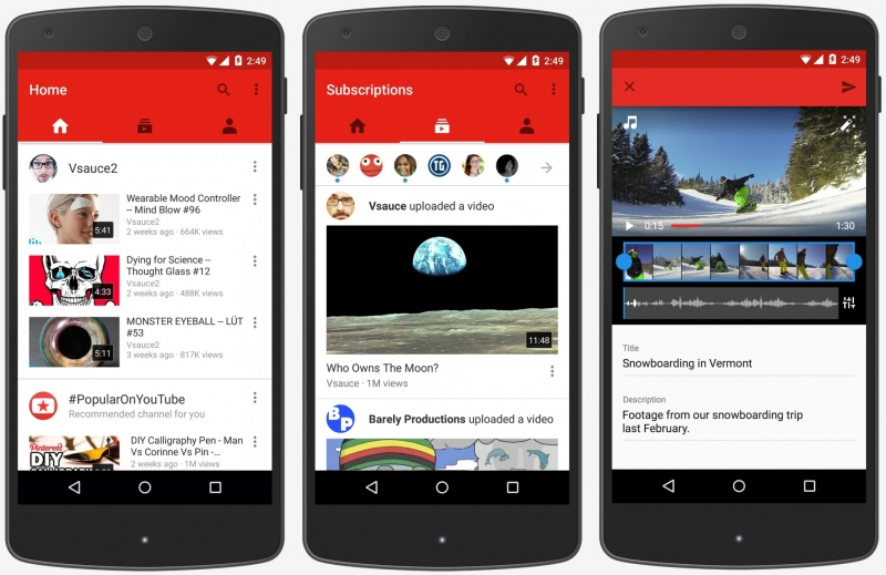 YouTube updates official app as half of its traffic now originates