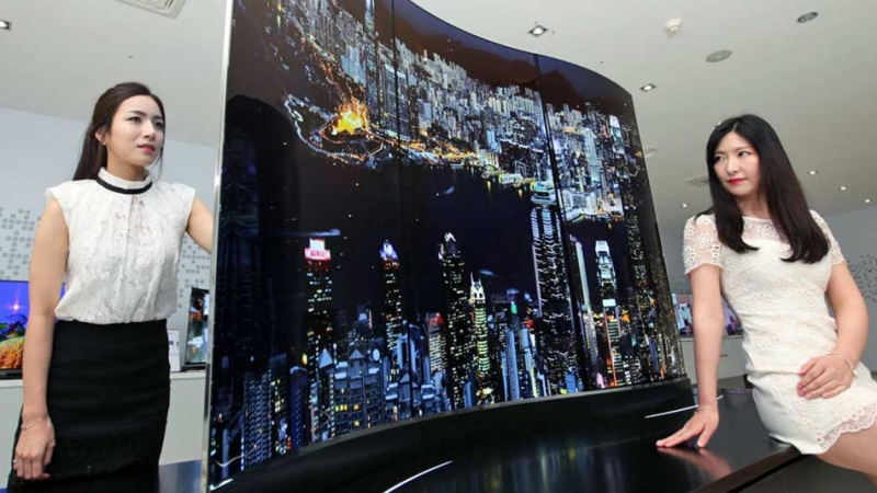 lg wallpaper tv. lg shows off double-sided tv and wallpaper oled panel at ifa electronics show lg tv
