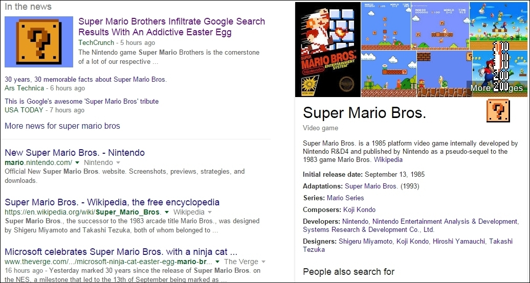 Google, Microsoft recognize Super Mario Bros. anniversary with Easter eggs