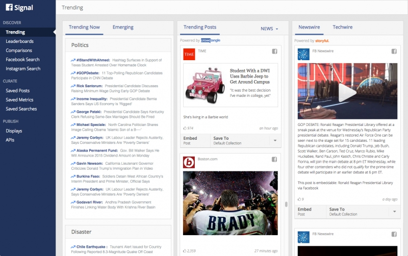 In another bid to be taken seriously by journalists, Facebook launches Signal