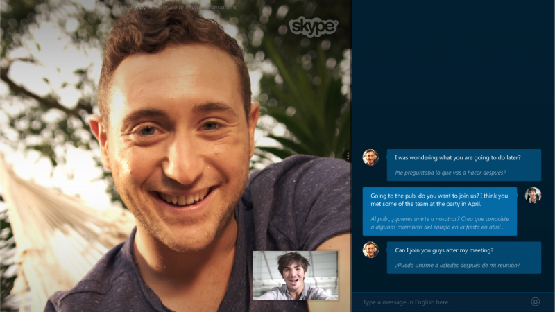 Now you can Skype with people who speak a different language in real-time