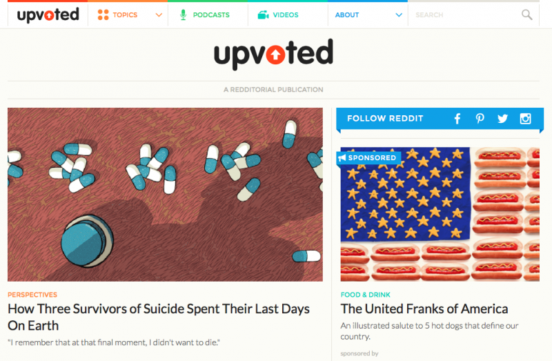 Reddit has a new site called Upvoted, but you can't comment on it