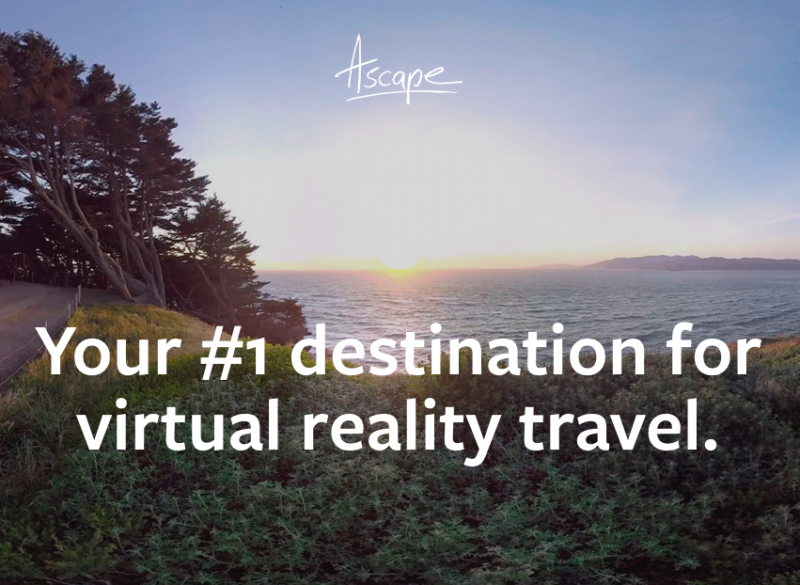 Travel the world from your couch with Ascape VR