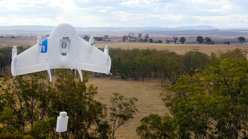 Two delivery drones built by Google will soon be tested in the US