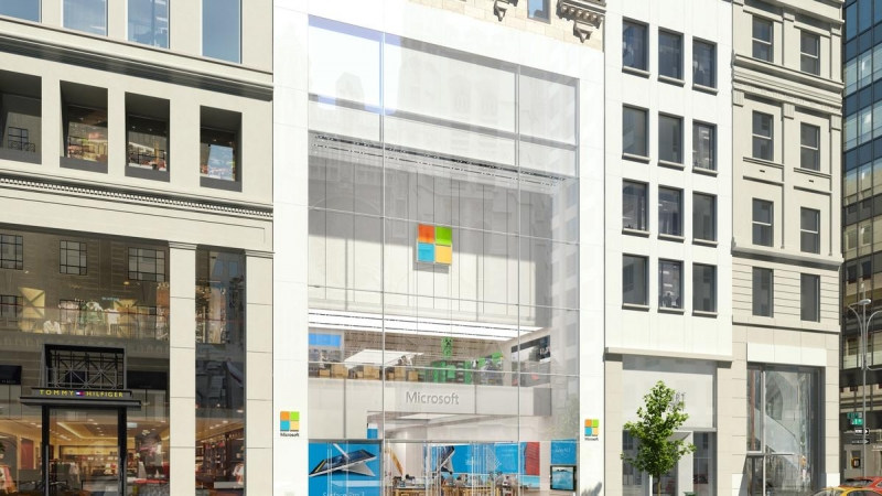 Microsoft's massive New York flagship store opening today